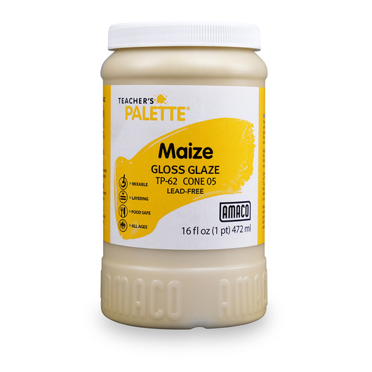 AMACO® Lead-Free Low-Fire Teacher's Palette® Gloss Glaze (Cone 05) - Pint - Maize