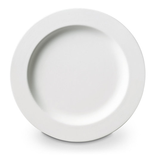 Duncan® Oh Four™ Bisque - Rimmed Salad Plate - 9 in. x 9 in. x 1 in. - Pkg. of 12