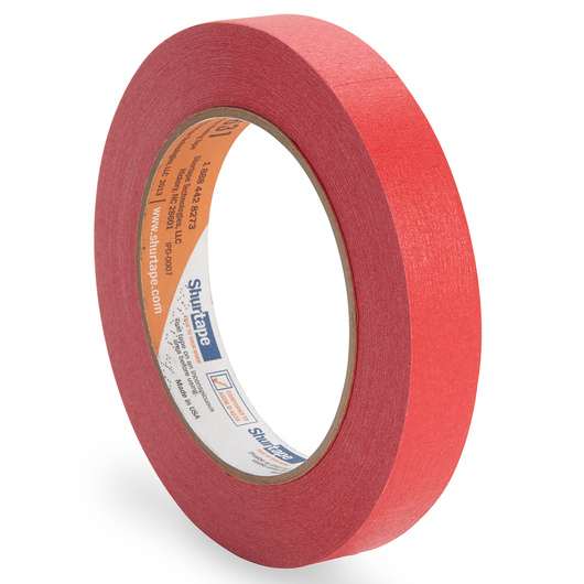 Colored Masking Tape - 3/4 in. x 60 yd. Roll - Red
