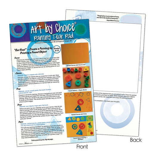 nasco art by choice tearpad painting teaching aids resources
