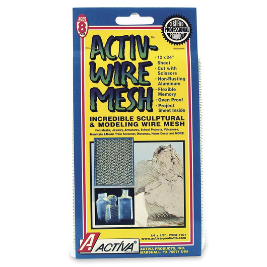 ACTIVA® Wire Mesh - 12 in. x 24 in. Sheet - 1/4 in. x 1/8 in. Mesh Size