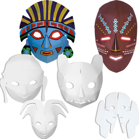 Pacon® Multicultural Dimensional Masks - Set of 24