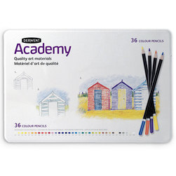 Derwent Academy Colored Pencil Tin - Set of 36