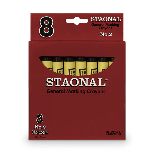 Staonal® Black Crayons - Box of 8