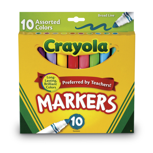 Crayola® Tropical Broad-Line Markers - Set of 10