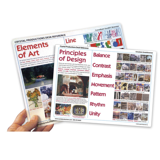 Elements and Principles of Design Desk Reference - Set of 30 - 8-1/2 in. x 11 in.