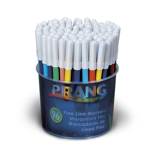 PRANG® Fine-Line Markers - Tub of 96