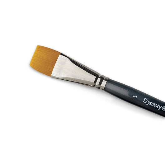 Dynasty® Finest Golden Synthetic Flat Brush - 1 in.