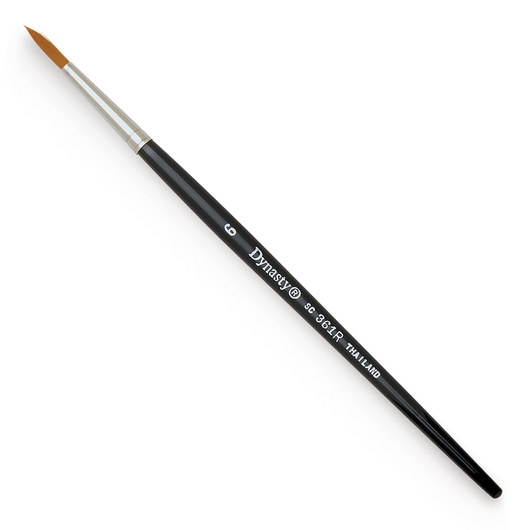 Dynasty® Golden Synthetic Brush - Round Size 6