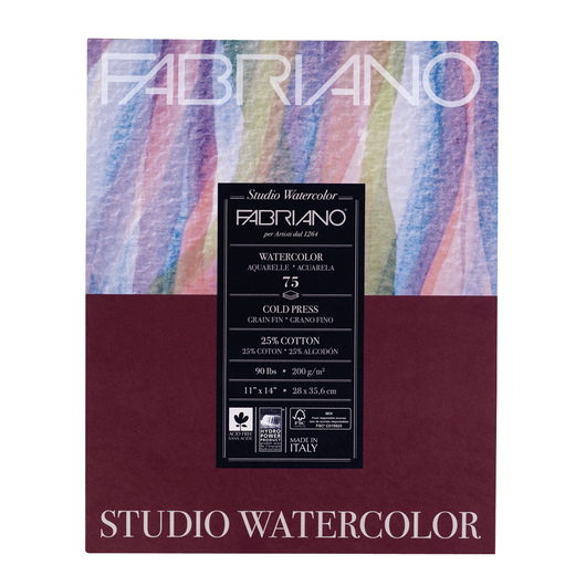Fabriano® Watercolor Paper Pad - 11 in. x 14 in. - 90 lb.