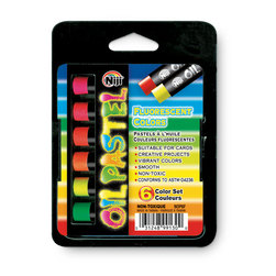 Niji Fluorescent Oil Pastel Set of 6