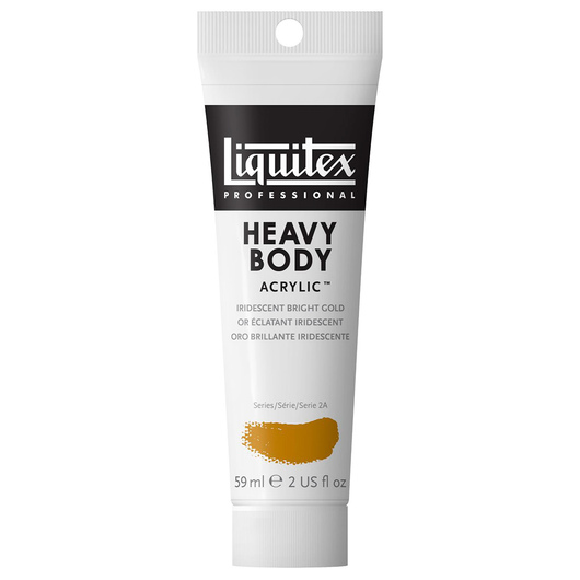 Liquitex® Heavy-Body Acrylic Paint - 2-oz. Tube - Iridescent Bright Gold
