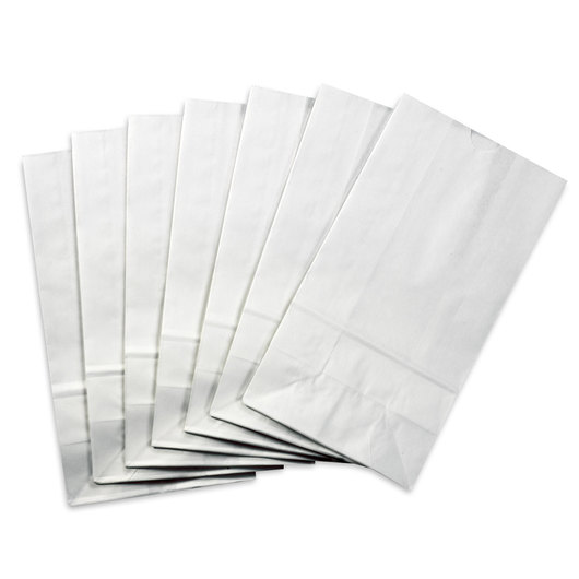 Pacon® Gusset-Style Rainbow Paper Bags - White - Pkg. of 100