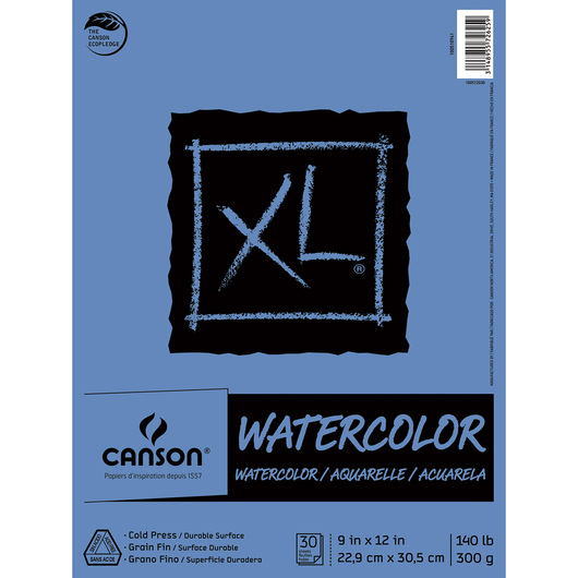 Canson® XL Watercolor Pad - 9 in. x 12 in. - 30 Sheets - 140 lb.