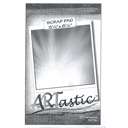 ARTastic® Scrap Pad - 5 in. x 8 in. - 100 Pages - 20 lb.