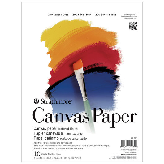 Strathmore Canvas Paper Student Art Pad - 10 Sheets - 115 lb.