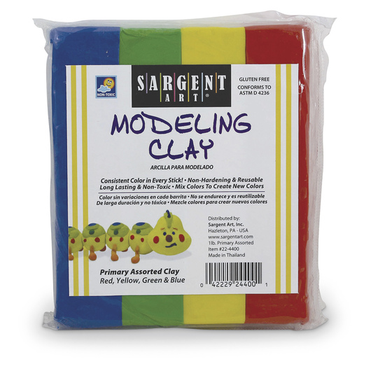 Sargent Art® Non-Hardening Modeling Clay Set of Primary Colors - 1/4-lb. Sticks