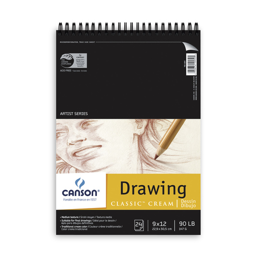 Canson® Artist Series Classic Cream Drawing Pad - 9 in. x 12 in.