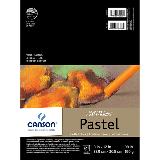 Canson® Mi-Teintes® Pads - 9 in. x 12 in. 24 Sheets 98 lb. - Earth Tones