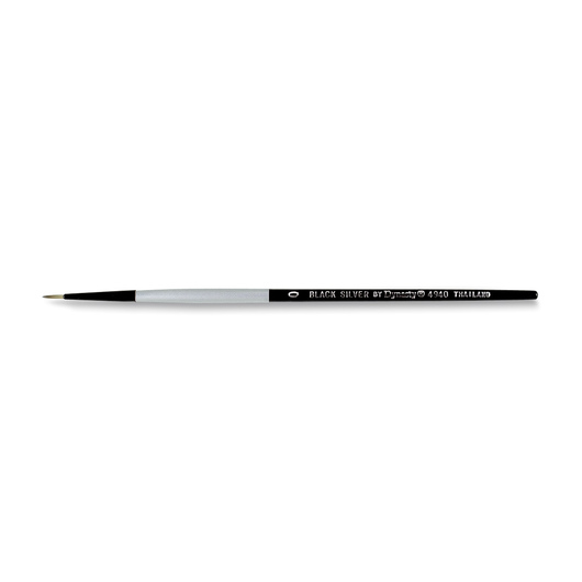 Black Silver by Dynasty® Synthetic Brush - Round Size 0