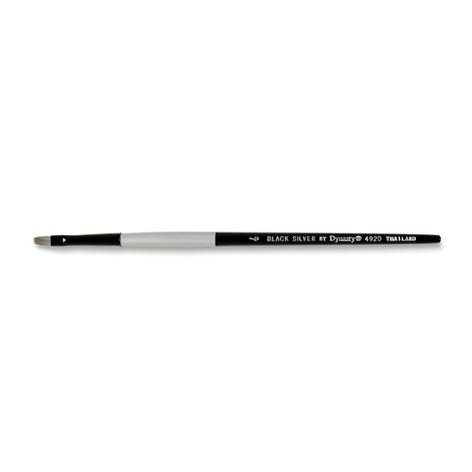Black Silver by Dynasty® Brush - Bright Size 4