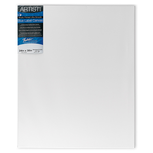 Fredrix® Artist Blue Label Ultrasmooth Stretched Canvas - 24 in. x 30 in.