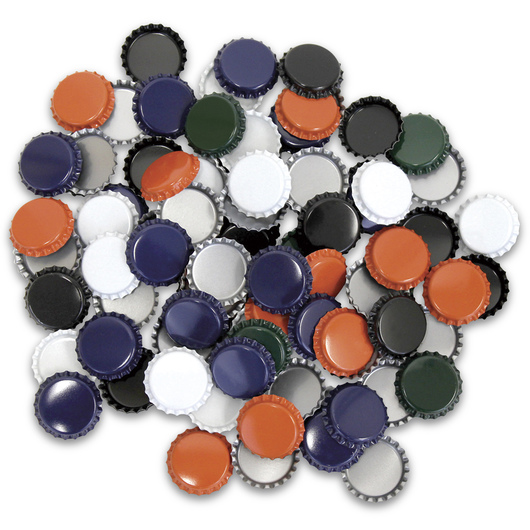 Bottle Caps - Pkg. of 200 - Assorted Colors Standard 1 in.