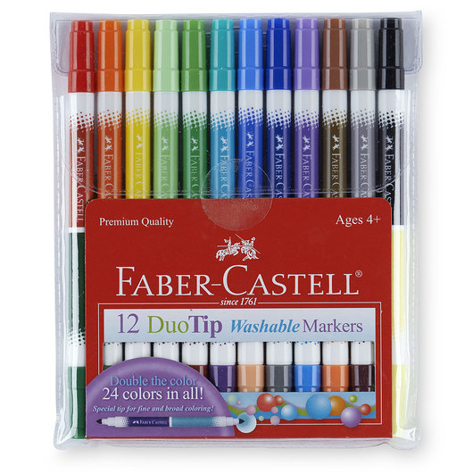 Faber-Castell® Washable Duo-Tip Markers - Set of 12