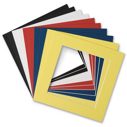 Square Beveled Colored Mat Frames - Pkg. of 10 - 8 in. x 8 in.