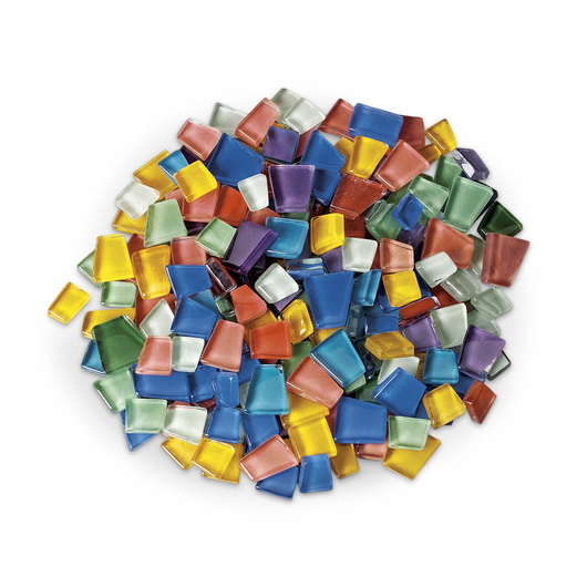 Crafter's Cut™ Precut Glass Mosaic Mercantile Tiles - 1-lb. Assortment - Solids