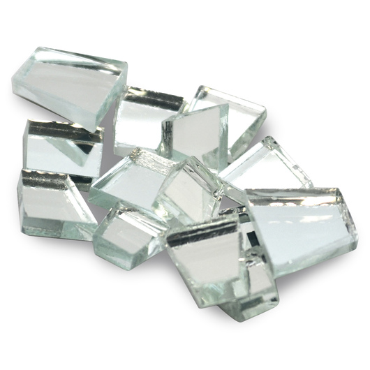 Crafter's Cut™ Precut Glass Mosaic Mercantile Tiles - 1-lb. Assortment - Classic Mirrors