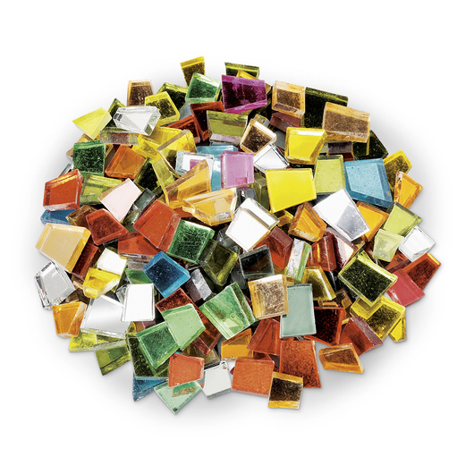 Crafter's Cut™ Precut Glass Mosaic Mercantile Tiles - 1-lb. Assortment - Colored Mirrors