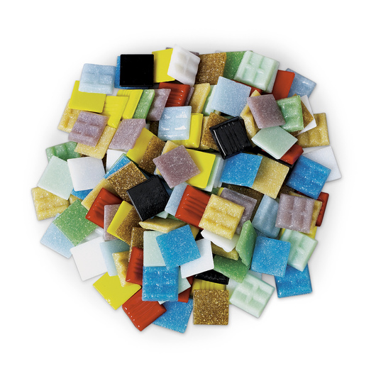 Vitreous Glass Mosaic Tiles - 1 lb. of 3/4 in. Tiles - Assorted Solid Colors