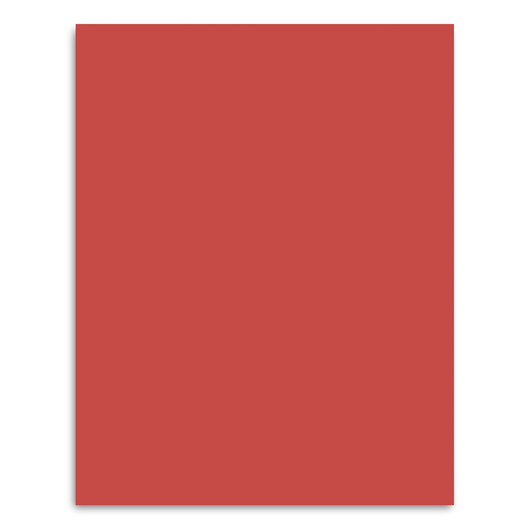 Pacon® Peacock® Premium Coated Poster Board - 22 in. x 28 in. - Red
