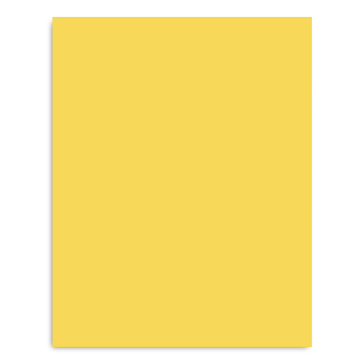 Pacon® Peacock® Premium Coated Poster Board - 22 in. x 28 in. - Yellow