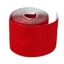 Pacon® Bordette® - 2-1/4 in. x 25 ft. - Red Metallic