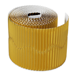 Pacon® Bordette® - 2-1/4 in. x 25 ft. - Gold Metallic