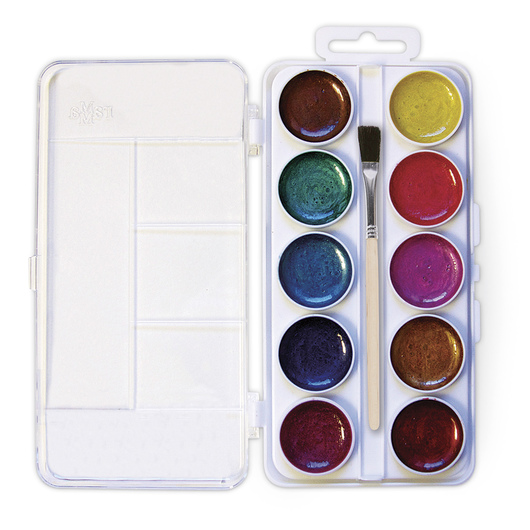Jack Richeson® Semi-Moist Watercolor Set - 10 Pearlescent Colors