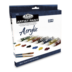Royal Brush® Essentials™ Acrylic Paint Set of 24 - 0.4-oz. (12 ml) Tubes