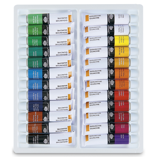 Royal Brush® Gouache - Set of 24 - 0.40 oz. (12 ml)