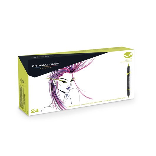 PRISMACOLOR® Premier® Double-Ended Brush/Fine Art Markers - Primary and Secondary Set of 24