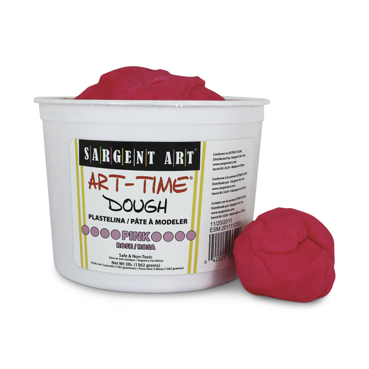Sargent Art- Art-Time Dough - 3-lb. Tub - Pink