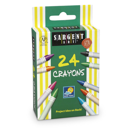 Sargent Art® Crayon Box - 24 Colors
