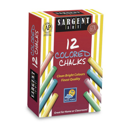 Sargent Art® Colorful Chalk - Dustless - Set of 12