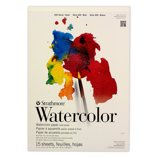 Strathmore® Student Watercolor Pad -  11 in. x 15 in. - 90 lb.