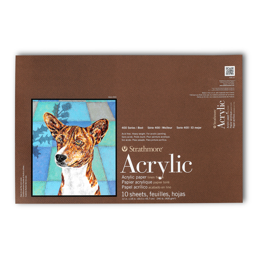 Strathmore® 400 Series Acrylic Pad - 12 in. x 12 in. - 10 Sheets - 246 lb.