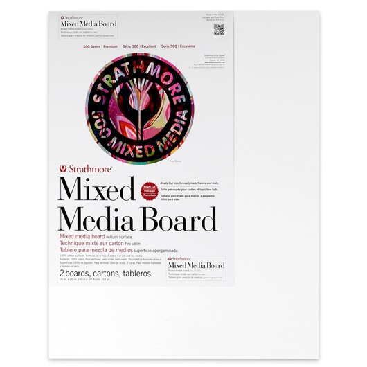 Strathmore® 500 Series Mixed Media Board - 16- x 20 in. - 52 pt. Sheet - Pkg. of 2