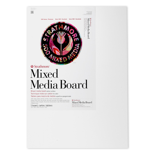 Strathmore® 500 Series Mixed Media Board - 22 in. x 30 in. - 52 pt. Sheet - Pkg. of 1