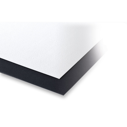Crescent® Pebble Mat Boards - 4 Ply Black and White - 20 in. x 32 in. - Pack of 10