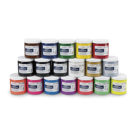 Handy Art Water-Soluble Block Ink Set - Block Ink Special - Set of 18 - 8 oz.